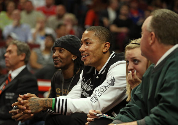 Derrick Rose won't be of much help to the Bulls sitting on the sidelines.