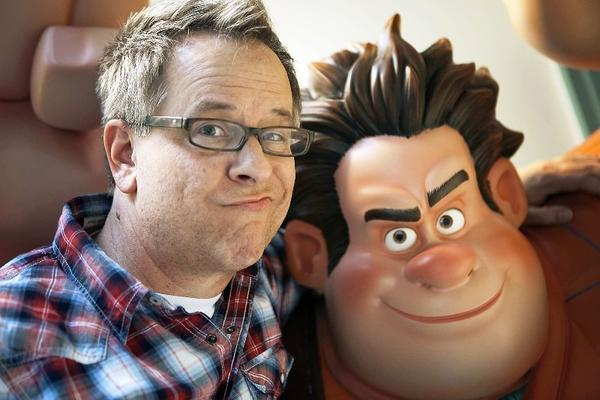 "Director Rick Moore with Disney artwork from his recently completed animated film ""Wreck-It Ralph"" at Walt Disney Animation Studios October 18 2012 in Burbank."