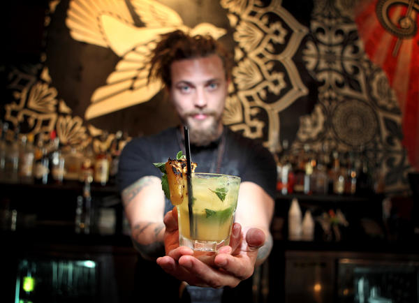 <em>Served at Wynwood Kitchen and Bar in Miami</em><br> 1 1/2 ounces Pisco Portón <br> 1 ounce St. Germain elderflower liqueur <br> 1/2 ounce simple syrup <br> 1 ounce pineapple juice <br> 1 ounce charred pineapple <br> 1 lime wedge <Br> Mint leaves <br> Ice <br><br> Muddle the charred pineapple, simple syrup, mint and lime wedge in a cocktail shaker. Add the pisco, St. Germain and pineapple juice. Shake with ice. Serve in a rocks glass, and garnish with charred pineapple and a mint leaf. <br><br> Makes one cocktail.