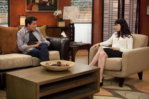 "Fox has bought reruns of ""Anger Management"" starring Charlie Sheen, above with Selma Blair, for its TV stations."