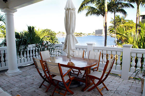 A suite patio balcony at the Pillars Hotel of Fort Lauderdale, which is a European, boutique-style hotel that was just rated Florida's best hotel by a survey of readers of Conde Nast Traveler magazine.