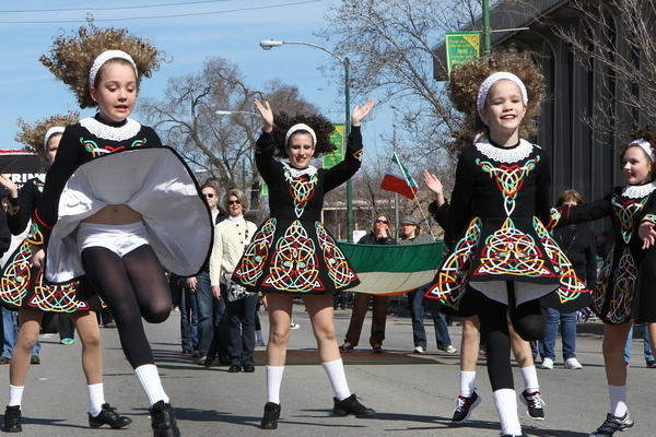 The Trinity Irish dancers at the 2012 South Side Irish St. Patrick's Day Parade.