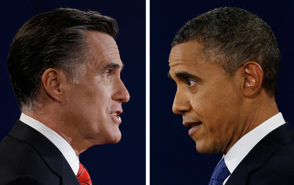 Mitt Romney and President Obama, the lead players in a campaign cycle that has set a record $6 billion in spending.
