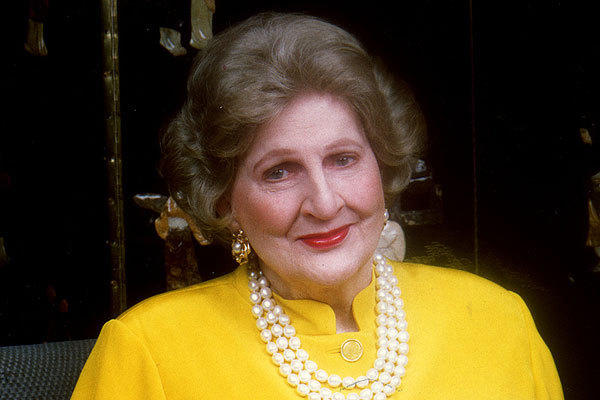 Letitia Baldrige, shown in 1998, worked in U.S. embassies abroad, served as social secretary to First Lady Jacqueline Kennedy, and wrote books and a syndicated column advising readers on good manners.