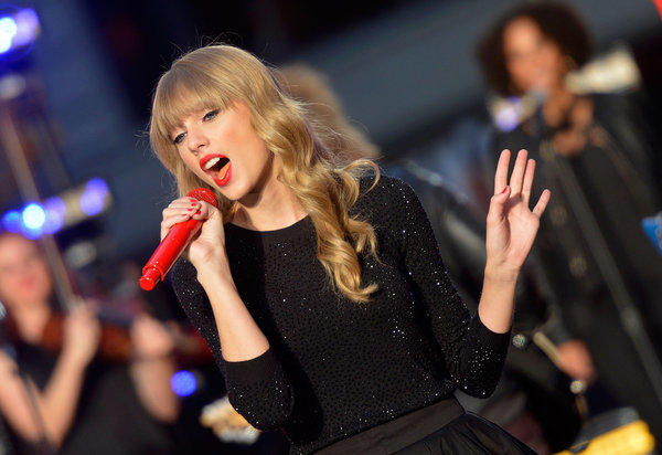 Taylor Swift performs at ABC News' Good Morning America Times Square Studio on Oct. 23. in New York City.