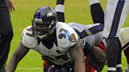 Arthur Jones makes it back to Baltimore for Wednesday's practice after Hurricane Sandy