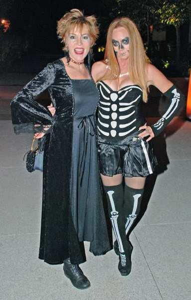 Hot Goths Carolyn Scully, left, and Janel Carrasco were among the 250 who supported Leadership Burbank at Saturday's masquerade fundraiser.