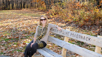 Late last week while fall was still fall, Linda Fetterolf, chairwoman of the Somerset County Campus Foundation for the Allegany College of Maryland, sat enjoying the sun and the scenery from a bench along the track on the Somerset Campus off Route 31. The foundation owns the track used by college students and community residents alike. The benches are fundraisers for the track.