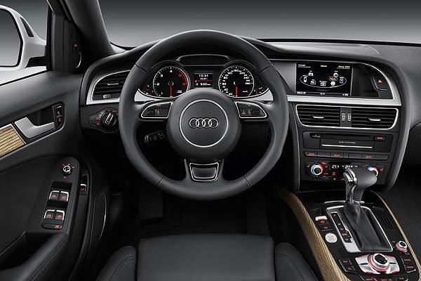 The dashboard of the Audi Allroad.