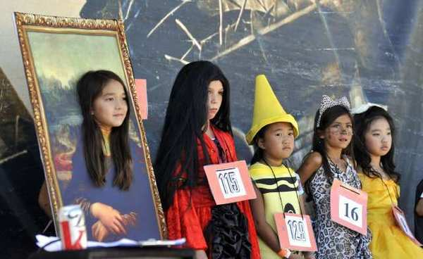 The costume contest at the 25th Annual Halloween Haunt at the La Canada Elementary School on Saturday.