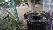 Annapolis officials are considering a plan to remove trash cans from city parks, a strategy they say would save money and could keep public spaces cleaner.