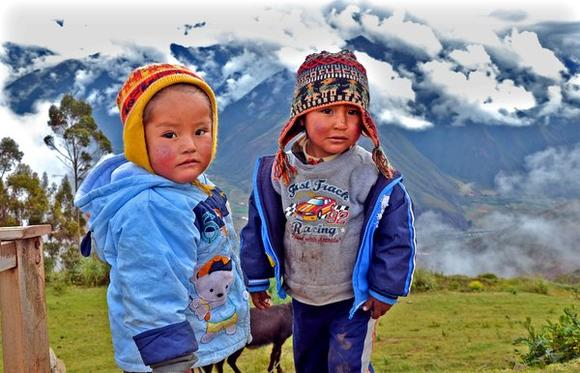 Children outside Cuzco, Peru