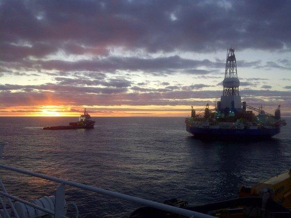 The Kulluk drill rig is preparing to leave the Beaufort Sea.