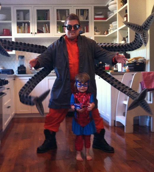 Celebrity Halloween costumes 2012: Patton Oswalt and daughter