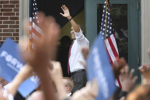 President Obama waves goodbye to supporters last week at a campaign rally at Elm Street Middle School in Nashua, N.H.