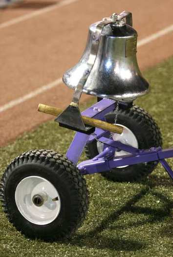 ARCHIVE PHOTO: The victory bell will be on the line when Glendale and Hoover face off at Moyse Field on Friday.