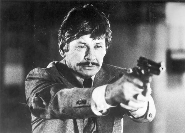 <b>Cause for revenge:</b> Charles Bronson's hero, Paul Kersey, galvanized into action and freed of his wussy liberal tendencies after his wife is killed by muggers, decides to wipe the scum off Manhattan's blighted streets.