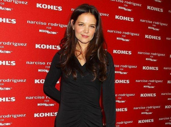 Katie Holmes at the Narciso Rodriguez for DesigNation launch in partnership with Kohl's department store in New York in October.