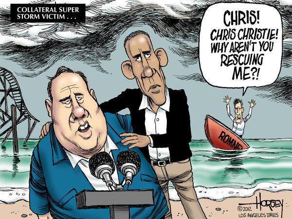 Chris Christie's praise for Obama undercuts Romney