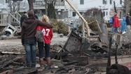 Survivors of Superstorm Sandy struggled Thursday to balance their need for normalcy with the emotionally devastating weight of tragedy.