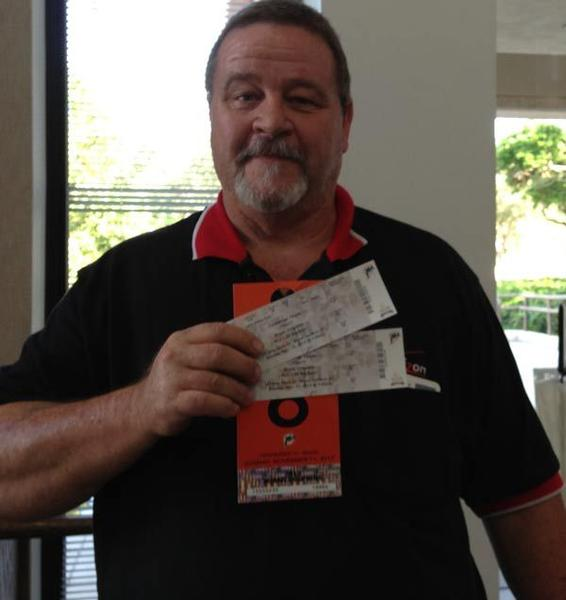 "Congratulations to Robert. He scored two tickets to a Miami Dolphins home game when he ""Beat the Experts"""