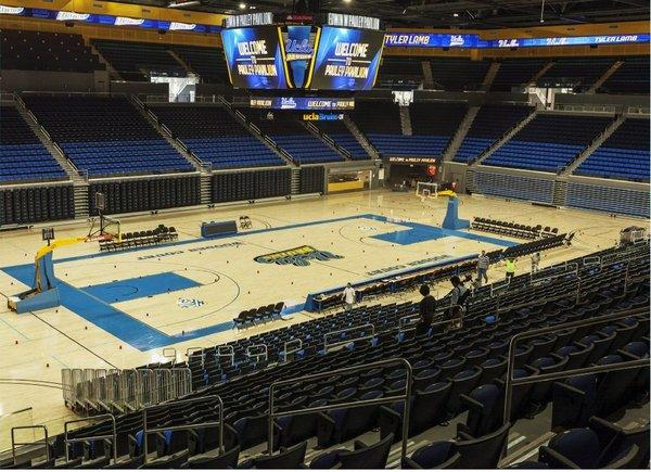 UCLA's men's basketball team, which will play in the renovated Pauley Pavilion this season, was picked by media members to finish second in the Pac-12 this season.