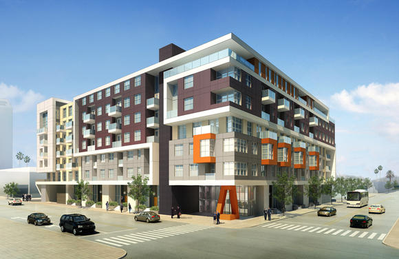 A rendering of the orange and Wilson project.