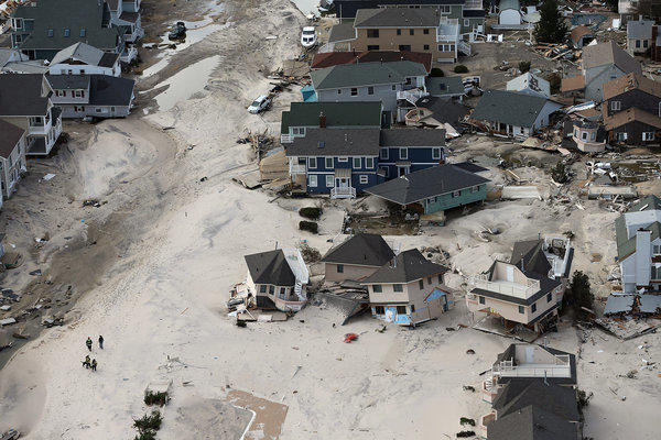 Homes wrecked by Sandy in Seaside Heights, N.J.