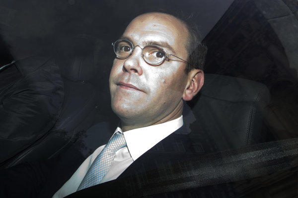 James Murdoch, son of News Corp media mogul Rupert Murdoch.