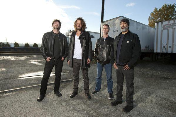 Soundgarden's Ben Shepherd, Chris Cornell, Matt Cameron and Kim Thayil (left to right) in Seattle.