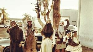 Chris Brown dressed as Taliban for Halloween