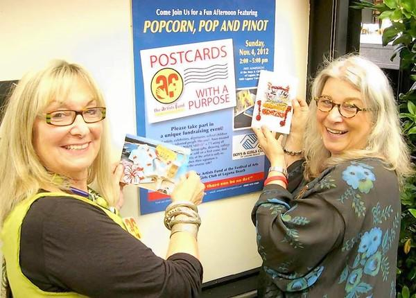 Postcards with a Purpose co-chairs Mia Moore (left) and Rosemary Swimm.