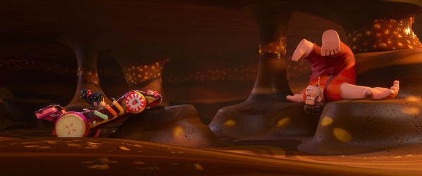 "Composer Henry Jackman, who worked on early '90s video game ""M.C. Kids,"" scored Disney's ""Wreck-It Ralph."" Above, a scene from the film featuring Ralph, right, and Vanellope von Schweetz."
