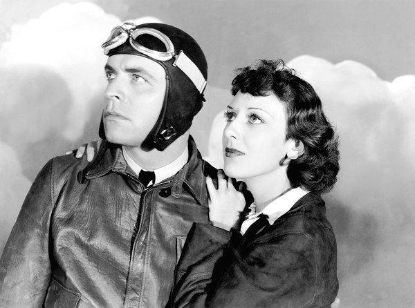 "Lyle Talbot, shown with Ann Dvorak in 1934's ""Murder in the Clouds,"" was a contract actor with Warner Bros. who got his start in a traveling carnival."