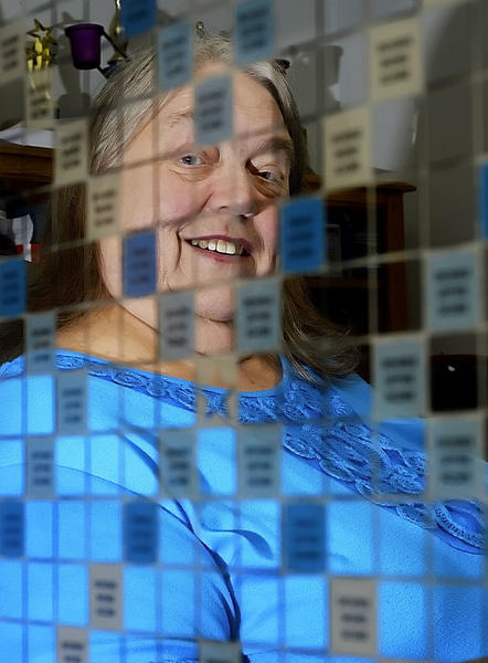 Louise Wolfe of Hagerstown played in the first national Scrabble tournament in 1978. She co-hosts chess and Scrabble night at Port City Java in Hagerstown, and tries to pass on her knowledge to new players.