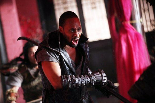 "Rapper turned actor-director RZA in a scene from ""The Man With the Iron Fists."""