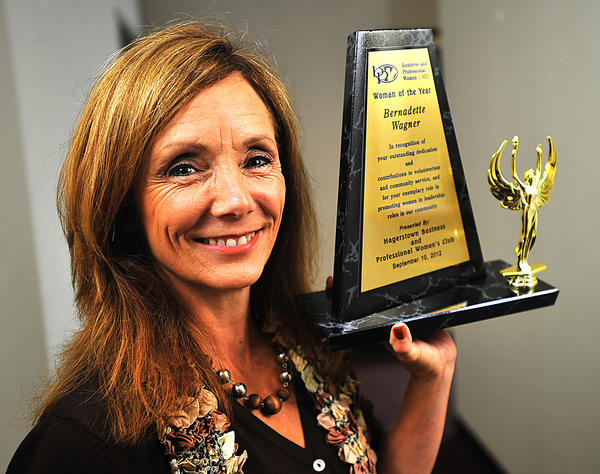 Bernadette Wagner was recognized in September as the 2012 Woman of the Year by the Hagerstown Business and Professional Womens Club.