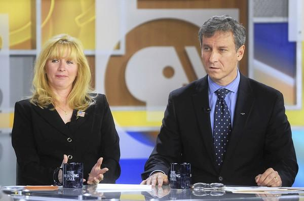 The 17th District Congressional Debate is held between (right) Matt Cartwright (DEM) and (Left) Laureen Cummings (REP) at the PBS39 studio at SteelStacks on Wednesday, October 17, 2012.