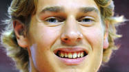 Maryland freshman Jake Layman prefers to only 'go crazy' when he's on the court