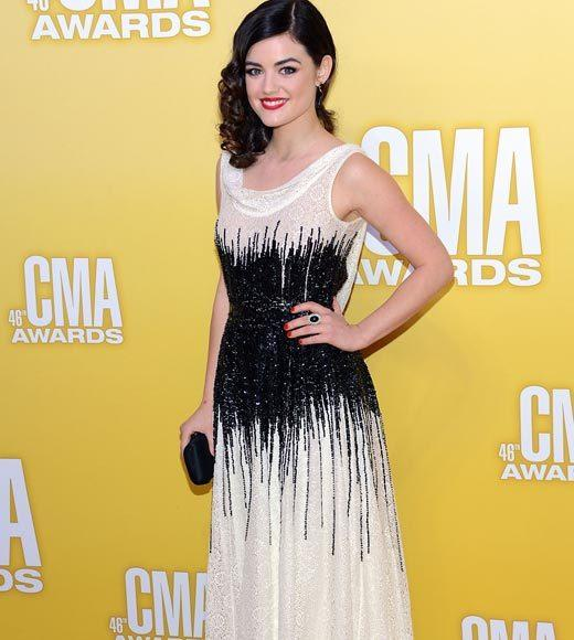 2012 CMA Awards red carpet arrival pics: Lucy Hale