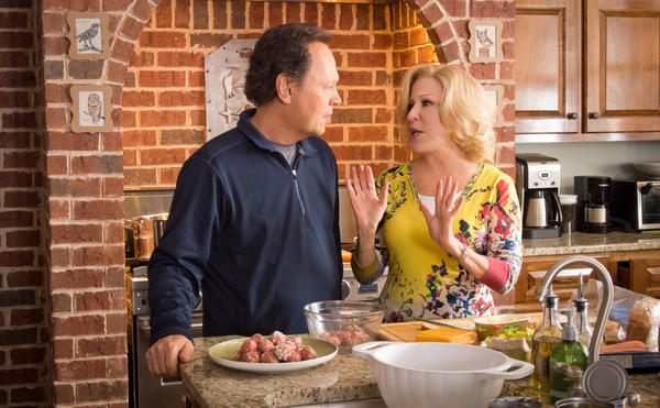 "Actors Billy Crystal, left, and Bette Midler in ""Parental Guidance."""