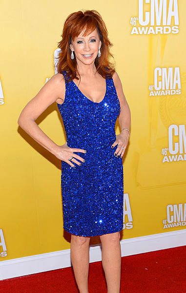 Country music artist and actress Reba McEntire.