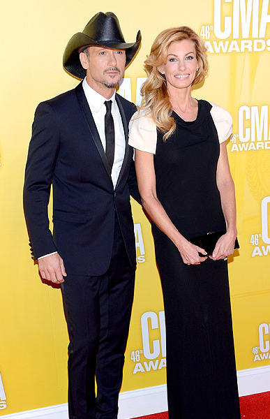 Country music artists Tim McGraw and Faith Hill.