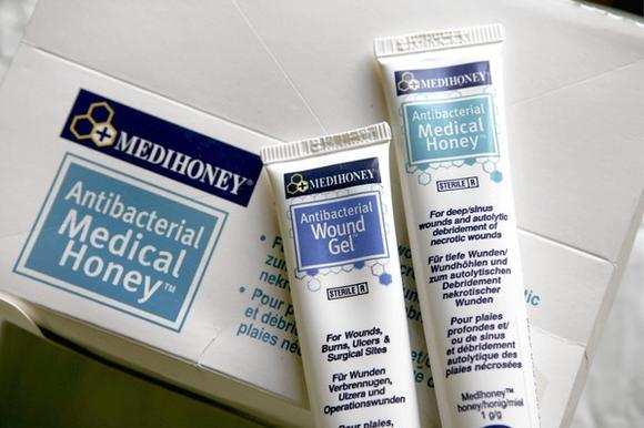 Germany, Bonn, Antibacterial Medical Honey and Wound Gel by Medihoney.