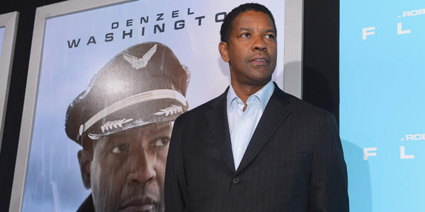 "Denzel Washington arrives at the Oct. 23 L.A. premiere of ""Flight."""