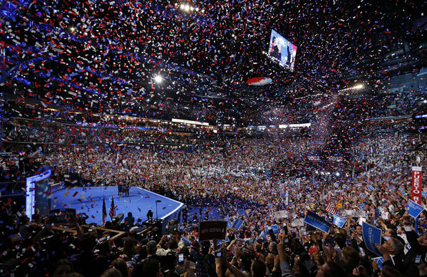 A study of mainstream media coverage since the national political conventions found more positive coverage of President Obama than Republican Mitt Romney. The Democrats ended their convention in Charlotte, N.C., with a blizzard of confetti.