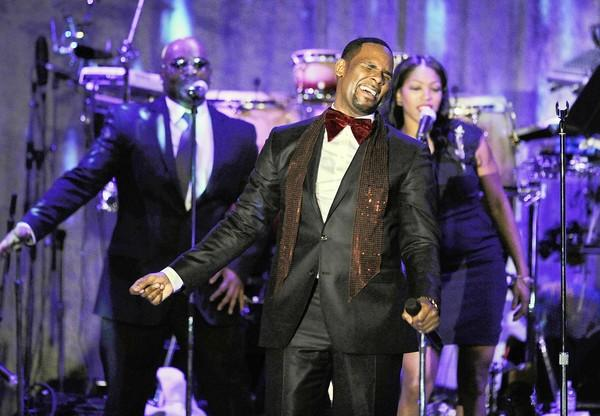 "R. Kelly, performing in 2011, has a simple goal with his shows: ""Hopefully, people will hook up from this."""