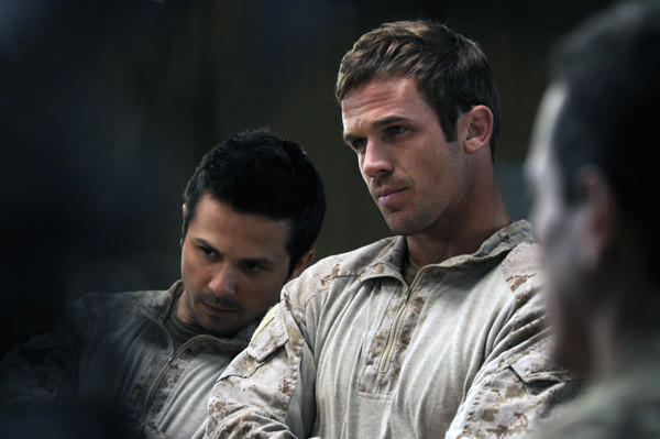 "Freddy Rodriguez and Cam Gigandet star in ""SEAL Team Six: The Raid on Osama Bin Laden."""
