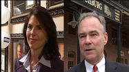 The race for Virginia's Senate seat was front and center in different parts of Lynchburg Thursday afternoon.
