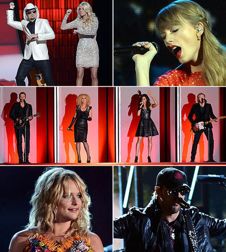 "Brad Paisley doing ""Gangnam Style."" Taylor Swift in a cafe. Little Big Town in a boat, or maybe the set of an '80s music video. Behold some of the highs and lows of the 2012 Country Music Association Awards.<br><br> <b>Related:</b><br><br> <a href=""http://www.zap2it.com/news/pictures/zap-2012-cma-awards-red-carpet-arrival-pics,0,1481279.photogallery"">CMA Awards 2012 red carpet</a><br> <a href=""http://blog.zap2it.com/frominsidethebox/2012/11/country-music-association-awards-2012-winners-list-blake-shelton-and-miranda-lambert-score-big.html"">CMA Awards: All the winners</a><br>"